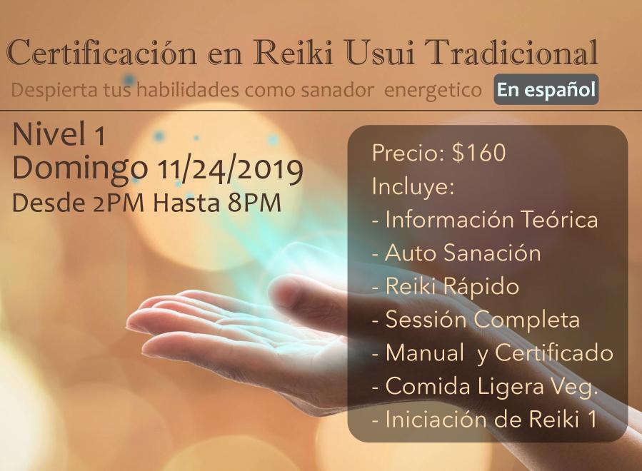 Certificacion reiki en espanol primer nivel